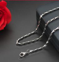 Silberkette Halskette Silber 55cm lang Edelstahl Panzerkette für Damen Herren