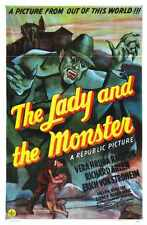 Lady And Monster 01 Metal Sign A4 12x8 Aluminium