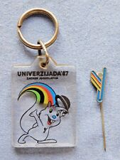 Keychain and pin - Yugoslavia Croatia Zagreb/ 1987 University games