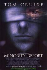 MINORITY REPORT MOVIE POSTER Original 27x40 DS RARE 2nd Advance Style TOM CRUISE