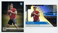 (2) 2018 KYLE ALLEN Rookie Card RC LOT Carolina Panthers Panini 379 Unparalleled