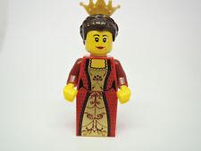 Lego personaje Castle Queen reina rojo dorado vestido cas504 + corona 10223