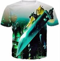 New Fashion Women/Mens Funny Final Fantasy VII Cartoon 3D Print T-Shirt YT215