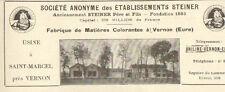 27 SAINT-MARCEL VERNON ETS STEINER MATIERES COLORANTES  PUBLICITE 1924
