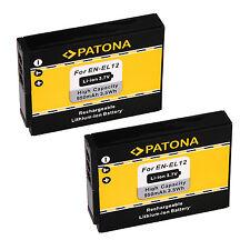 2 x Akku für Nikon CoolPix AW100 / AW110 / AW120 / AW130 - EN-EL12 - 950mAh