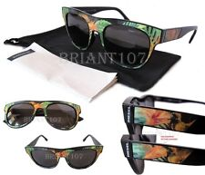 NWT Diesel Unisex Holographic Sunglasses DL0160 Orange-Flower/Gray $160 -ITALY