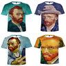 Van gogh Devil May Cry Casual Women Men T-Shirt 3D Print Short Sleeve Tee Tops