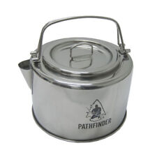 Pathfinder Stainless Steel Kettle with Filter 1.2L for Camping, Hob or Open Fire