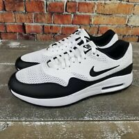 Nike Air Max 1 Golf Shoes Spike Less White/Black CL7576-100 Men's Size 9.5