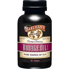 Borage Oil Capsules 1000mg Barlean's 60 Softgel