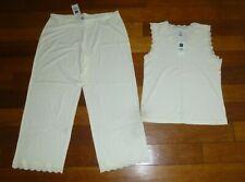 Women's Gap Body PAJAMAS Lace Size M Sleepwear Drawstring Waist New NWT