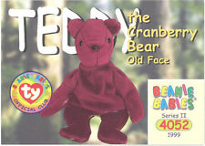 Ty Beanie Babies Bboc Card - Series 2 Common - Teddy Cranberry Old Face Bear