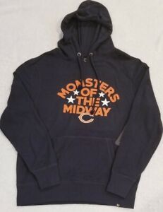 Chicago Bears 47 Brand Fleece Hoodie Monsters Of The Midway Navy Men's L NWT