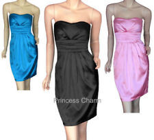 Satin Party/Cocktail Dresses for Women with Pleated