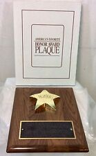Award plaque America's Favorite Honor Solid Walnut Crafts Blank 8 X 10