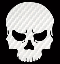 Skull Sticker Carbon Fiber Vinyl Skull Decal