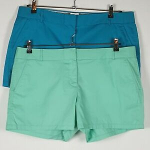 "New J. Crew Sz 16 Chino Broken In Shorts Women 100% Cotton 3.5"" Inseam"