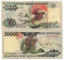Indonesia 20000 Rupiah 1995 F / VF Note P. 135
