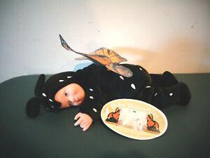 ANNE GEDDES BABY BUTTERFLIES MONARCH BUTTERFLY DOLL W/TAGS