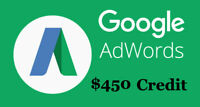 $450 Adwords Google Ads Credit Threshold Account for Advertising