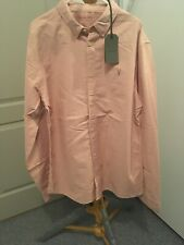 Mens All Saints Huntingdon Long Sleeved Shirt. Blossom Pink. Large