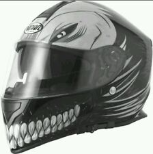 VCAN V127 HOLLOW MAN MATT BLACK MOTORBIKE FULL FACE HELMET PLUS 2 FREE GIFTS XL