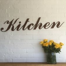 Rusty KITCHEN Lettering Letters Sign Metal Home bar Pub Vintage Wedding