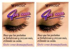 2x PROSA Oil For Larger EYELASHES 4 in 1 Aceite Para Alargar PESTANAS 4 En Uno