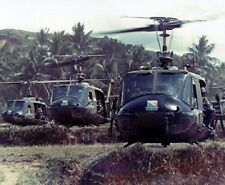 "Formation of UH-1 Helicopters from Alpha Company 8""x 10"" Vietnam War Photo 115"