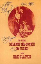 GEORGE HARRISON & ERIC CLAPTON REPRO SIGNED DELANEY & BONNIE POSTER . BEATLES