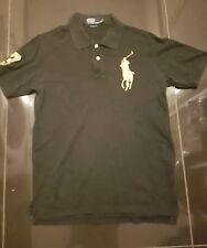 Ralph Lauren Polo Camiseta Grande Oro Pony Negro para Hombre Talla M