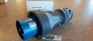ME 3100P6W Mennekes Plug 100A - 250V - 2P-3W  Blue ME3100P6W IEC309