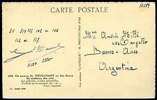FRANCE ALGERIA TO ARGENTINA Postcard Circa 1939