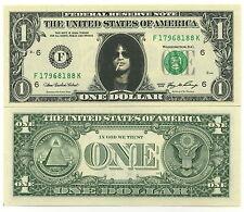 SLASH VRAI BILLET de 1 DOLLAR US ! COLLECTION Guns N Roses Hard Rock Guitar hero