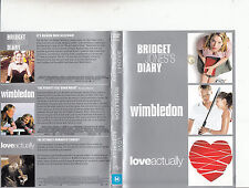 Bridget Jones Diary-2001-Renee Zellweger/Wimbledon/Love Actually-Movie-3-DVD