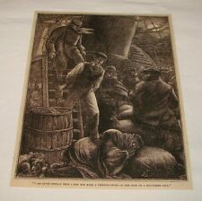 1880 magazine engraving ~ A PUGNACIOUS CELT, Scotland
