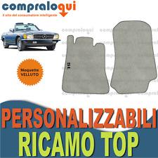 PER MERCEDES BENZ CLASSE SL (R107) TAPPETINI per AUTO VELLUTO BEIGE + RICAMO TOP