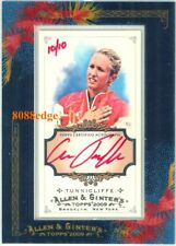 2009 ALLEN & GINTER AUTO RED INK:ANNA TUNNICLIFFE #10/10 AUTOGRAPH OLYMPIC CHAMP