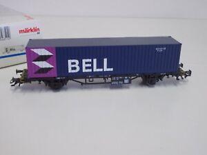 """Märklin HO  4851 Containerwagen """" BELL""""  ,neuwertig  in Ovp.(RS215)"""