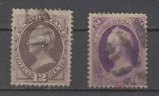US # 151 and # 153  F used ,  24cts red cancel cv= $ 465