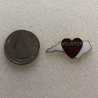 North Carolina Loves Volunteers Gold Tone Pin Pinback #36801