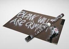 """Banksy - Blank Walls Are Criminal Archival Canvas Print 30""""x20"""""""