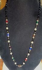 Multi Colored Glass Bead Vintage Necklace