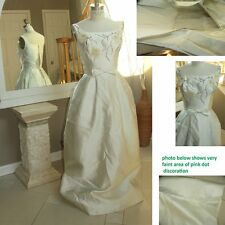 2 Day ONLY Sale $145 vtg 1950's 1960's champagne colored satin wedding dress