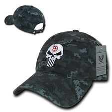 Camo Punisher Skull Military Navy Seal Special Forces Polo Baseball Hat Cap