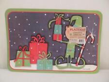 CounterArt Reversible Placemats (Set of 4) Bright Christmas Santa