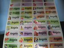 150 Tiny Sparkle Princess Personalized Waterproof Name Stickers Label Decals