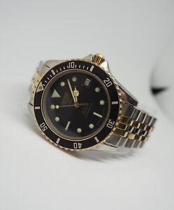 Vintage HEUER 1000 PROFESSIONAL 980.020  Date Quartz Black Dial Diver Watch