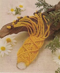 BOOK ONLY # 886 Macrame for Ages 8 and Up - Rare Beginner Key Chain Pattern