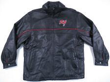 Tampa Bay Buccaneers Reebok On Field 100% Leather NFL Football Full Zip Jacket